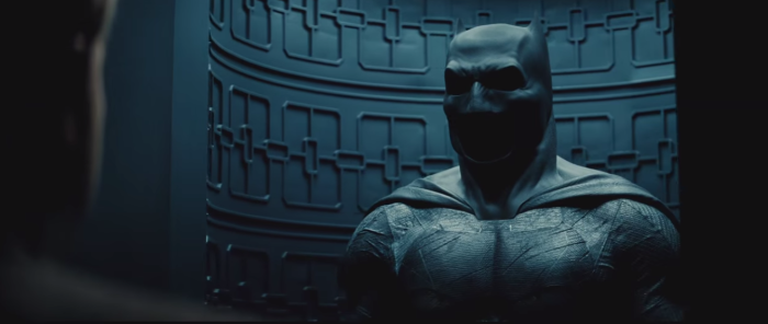 Batman Pearching with Rifle from Batman V Superman Dawn of Justice Trailer Batsuit Display