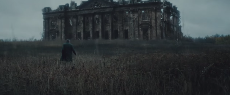 Batman Pearching with Rifle from Batman V Superman Dawn of Justice Trailer old wayne mannor
