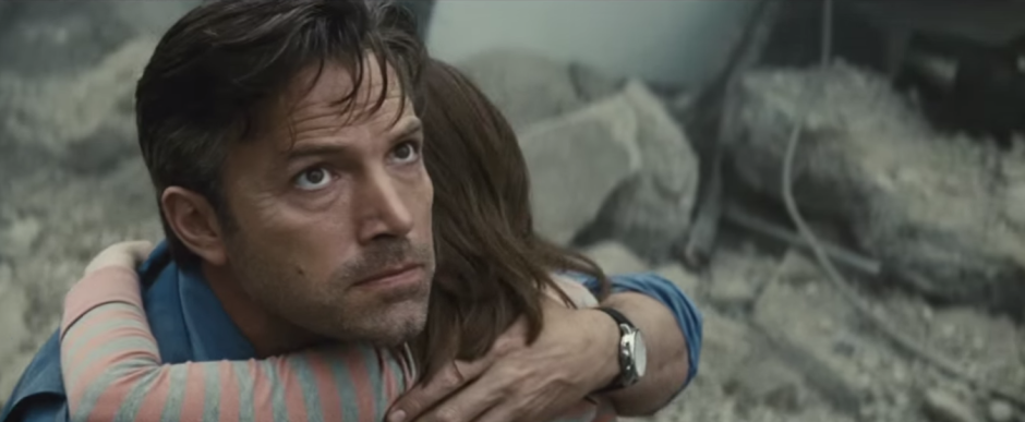 Batman V Superman Dawn of Justice Comic-Con Trailer Bruce Wayne Holds Girl