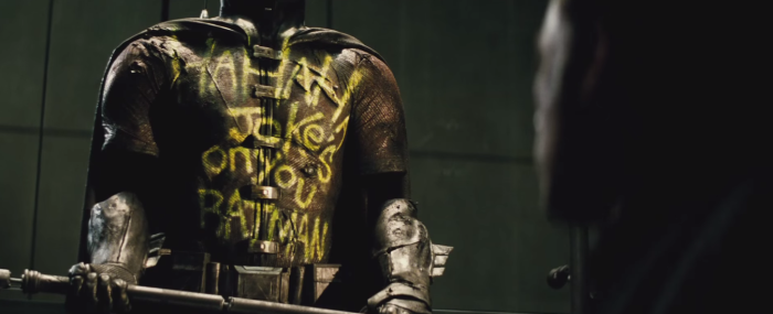 Batman V Superman Dawn of Justice Comic-Con Trailer Robin Suit Jokerl