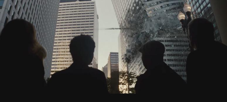 Batman V Superman Dawn of Justice Comic-Con Trailer Wayne Tower Falls