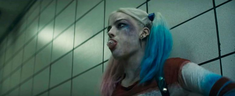Suicide Squad Comic-Con Trailer Harely Quinn Margot Robbie Bubble Gum