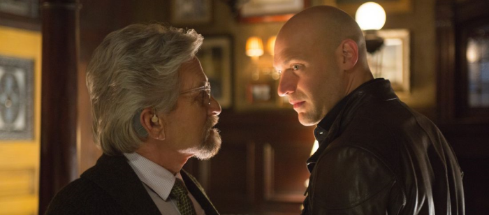 Michael Douglas as Hank Pym with Corey Stoll as Darren Cross