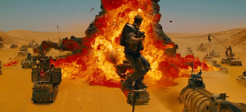 Mad Max Fury Road Max On a Pole