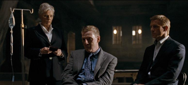 Mr White Quantum of Solace With M and James Bond 007 Daniel Craig
