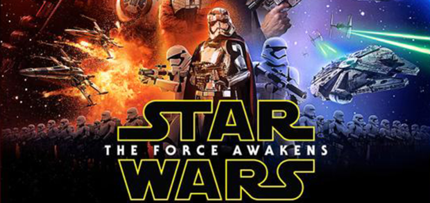 star wars force awakens final poster logo and captain phasma