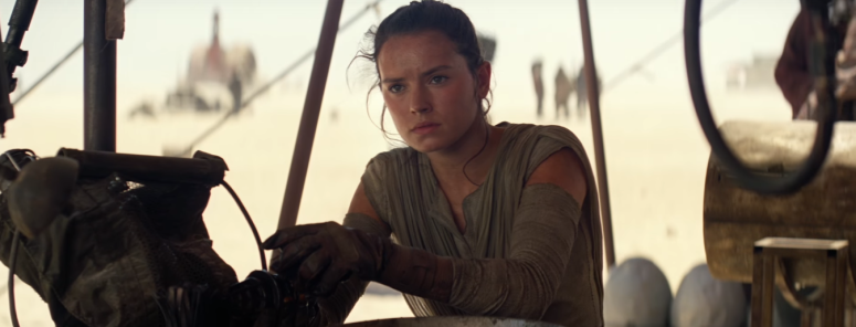 Star Wars The Force Awakens Final Trailer #3 Daisy Riley Rey Looks to the Stars