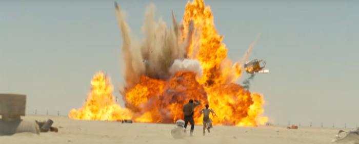 Star Wars The Force Awakens Final Trailer #3 Finn and Rey Run From Explosion