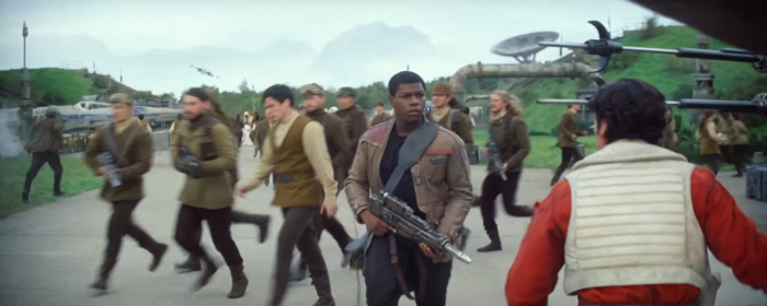 Star Wars The Force Awakens Final Trailer #3 Finn and X-Wing Pilot Poe
