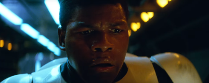 Star Wars The Force Awakens Final Trailer #3 Finn Removes Stormtrooper Helmet