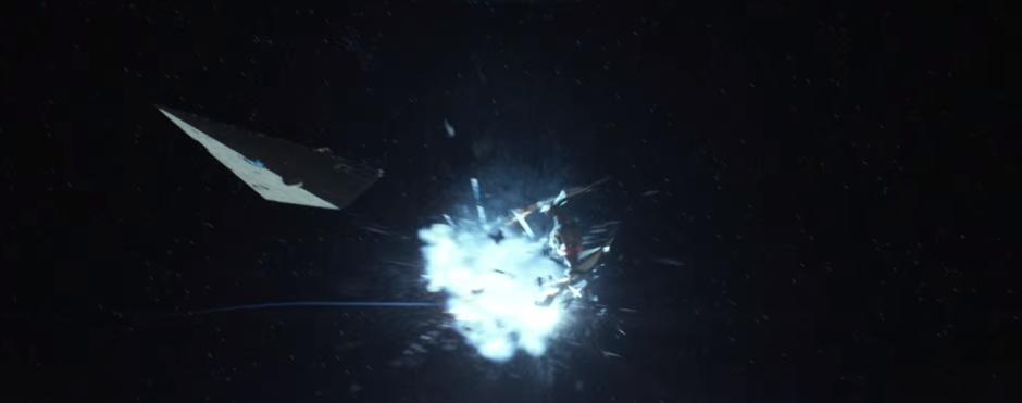 Star Wars The Force Awakens Final Trailer #3 Finn's Exploding Tie Fighter 1