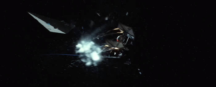 Star Wars The Force Awakens Final Trailer #3 Finn's Exploding Tie Fighter 2