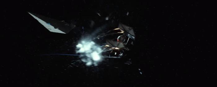 Star Wars The Force Awakens Final Trailer #3 Finn's Exploding Tie Fighter 2