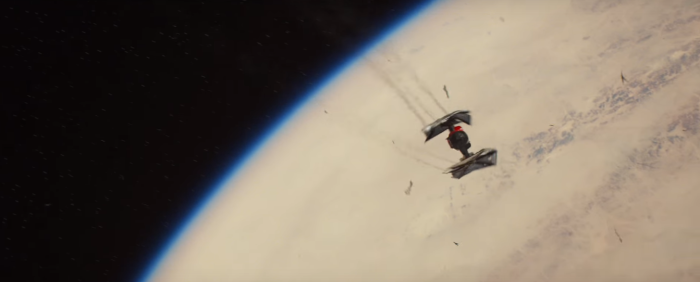 Star Wars The Force Awakens Final Trailer #3 Finn's Tie Fighter Crashes Towars Jakku