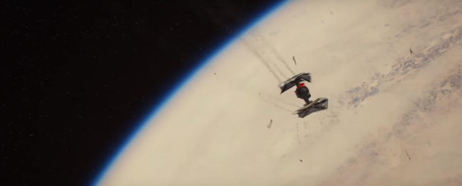 Star Wars The Force Awakens Final Trailer #3 Finn's Tie Fighter Crashes Towars Jakku