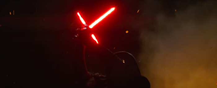 Star Wars The Force Awakens Final Trailer #3 Kylo Ren Lifts Lightsaber 2