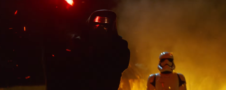 Star Wars The Force Awakens Final Trailer #3 Kylo Ren Lifts Lightsaber