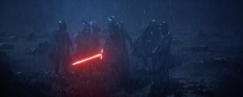 Star Wars The Force Awakens Final Trailer #3 Kylo Ren Lightsaber in Rain