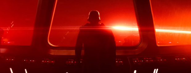 Star Wars The Force Awakens Final Trailer #3 Kylo Ren Looks At Space Red Light Close