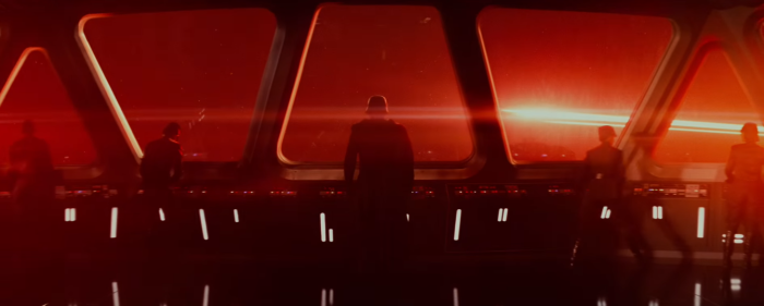 Star Wars The Force Awakens Final Trailer #3 Kylo Ren Looks At Space Red Light zoomed