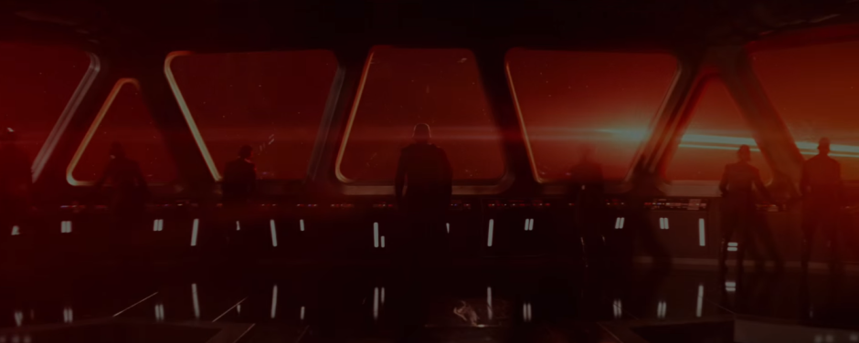 Star Wars The Force Awakens Final Trailer #3 Kylo Ren Looks At Space Red Light