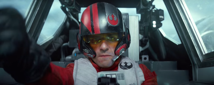 Star Wars The Force Awakens Final Trailer #3 Poe Oscar Isaac in X-Wing