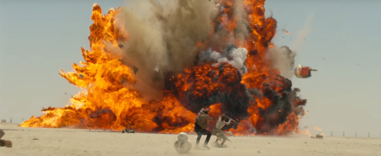 Star Wars The Force Awakens Final Trailer #3 Rey and Finn Explosion