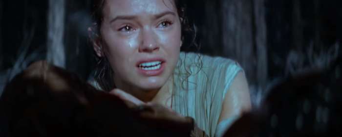 Star Wars The Force Awakens Final Trailer #3 Rey Cries Over Dead Han Solo