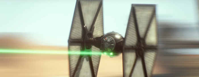 Star Wars The Force Awakens Final Trailer #3 Tie Fighter Fires Clear