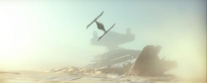 Star Wars The Force Awakens Final Trailer #3 Tie Fighter Over Crashed Star Destroyer