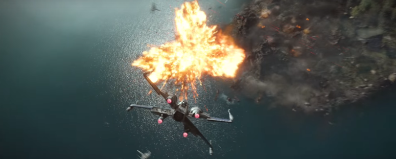 Star Wars The Force Awakens Final Trailer #3 X-Wing and Tie Fighter Explosion