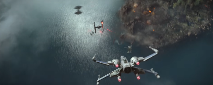 Star Wars The Force Awakens Final Trailer #3 X-Wing Chases Tie Fighters