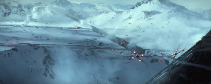 Star Wars The Force Awakens Final Trailer #3 X-Wing Tie Fighter Dogfight Over Starkiller Base