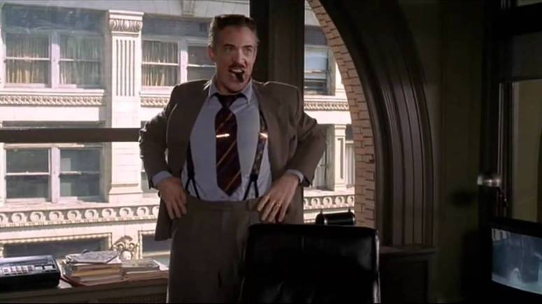 JK Simmons as J Jonah Jameson in Spider-Man