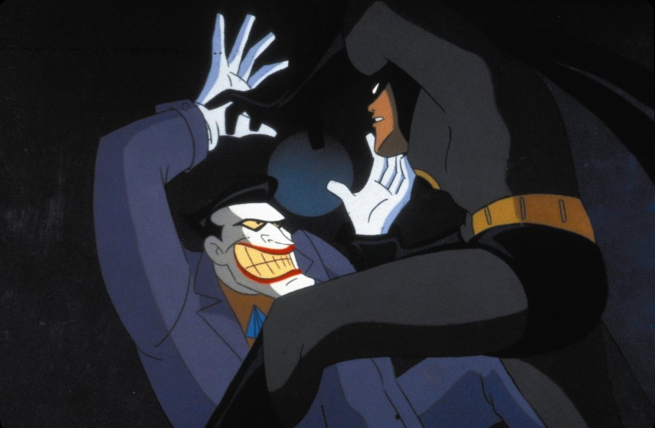 mark hamill as joker and batman from batman the animated series