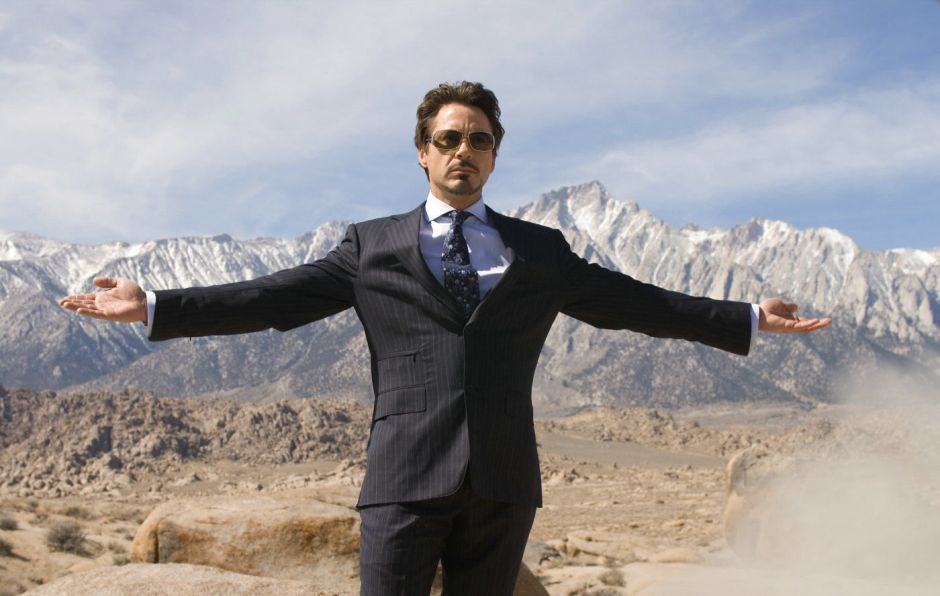 Robert Downey Jr as Tony Stark in Iron Man