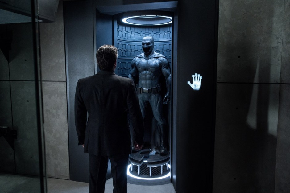 Batman V Superman Dawn of Justice Ben Affleck Bruce Wayne Looks At Batsuit