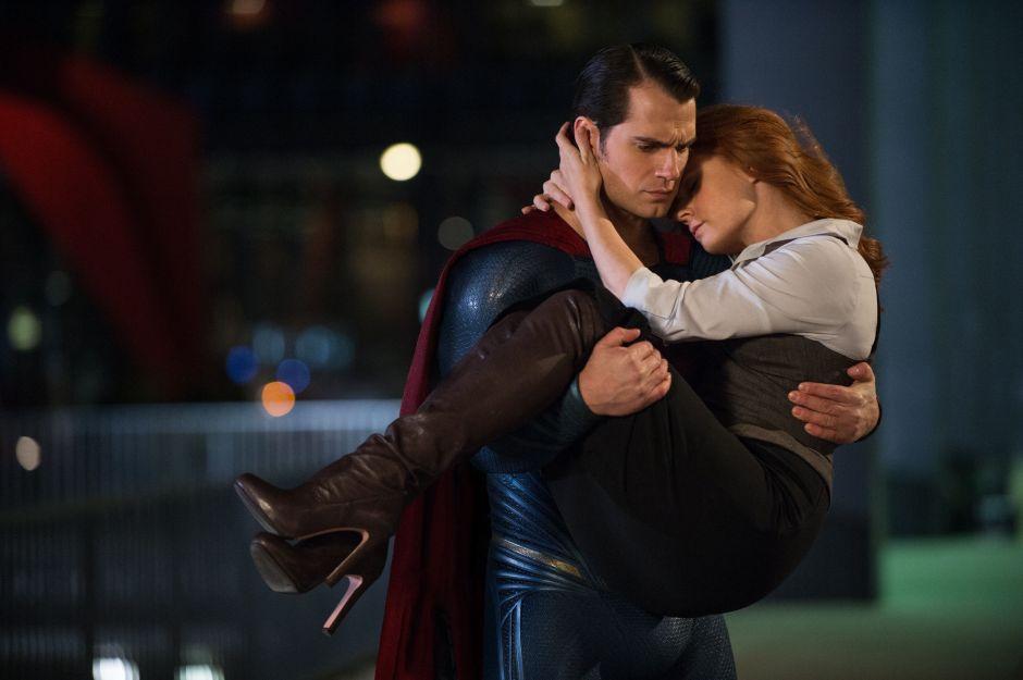 Batman V Superman Dawn of Justice Henry Cavill Saves Lois Lane Amy Adams