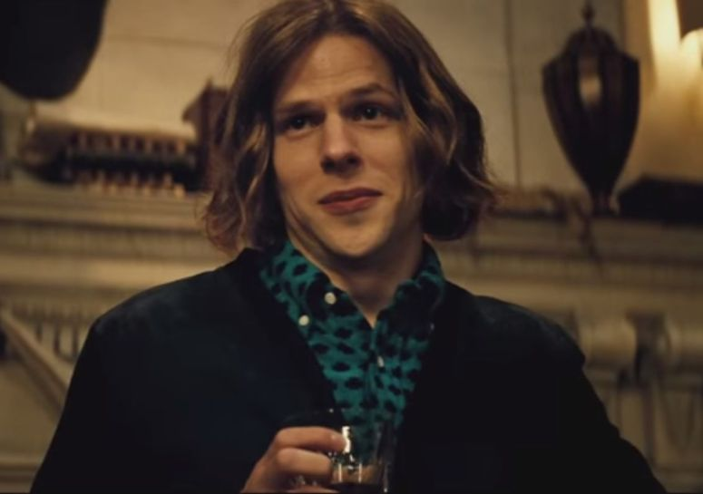 Batman V Superman Dawn of Justice Lex Luthor Drinks Jesse Eisenberg