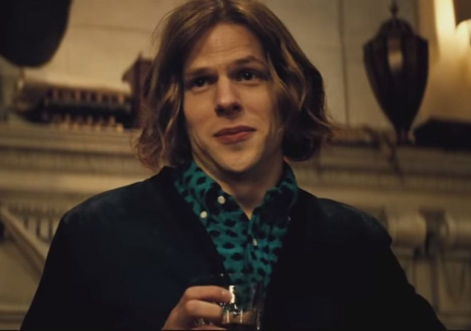 Batman V Superman Dawn of Justice Lex Luthor Drinks Jesse Eisenberg