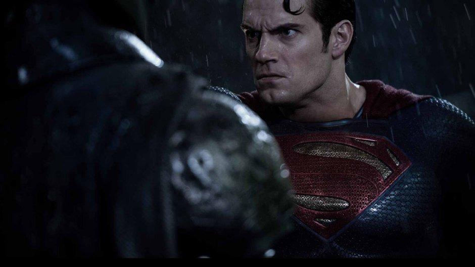 Batman V Superman Dawn of Justice Henry Cavill Superman Pushs Ben Affleck Batman