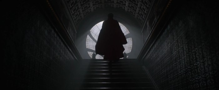 Dr Strange Trailer Benedict Cumberbatch in Full Costume Cape