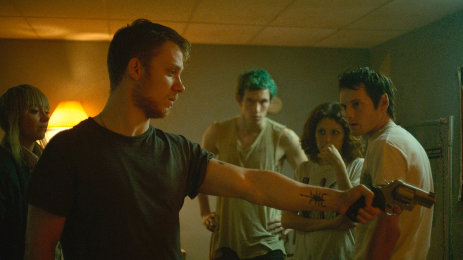 Green Room Anton Yelchin as Pat and Alia Shawkat as Sam Imogen Poots