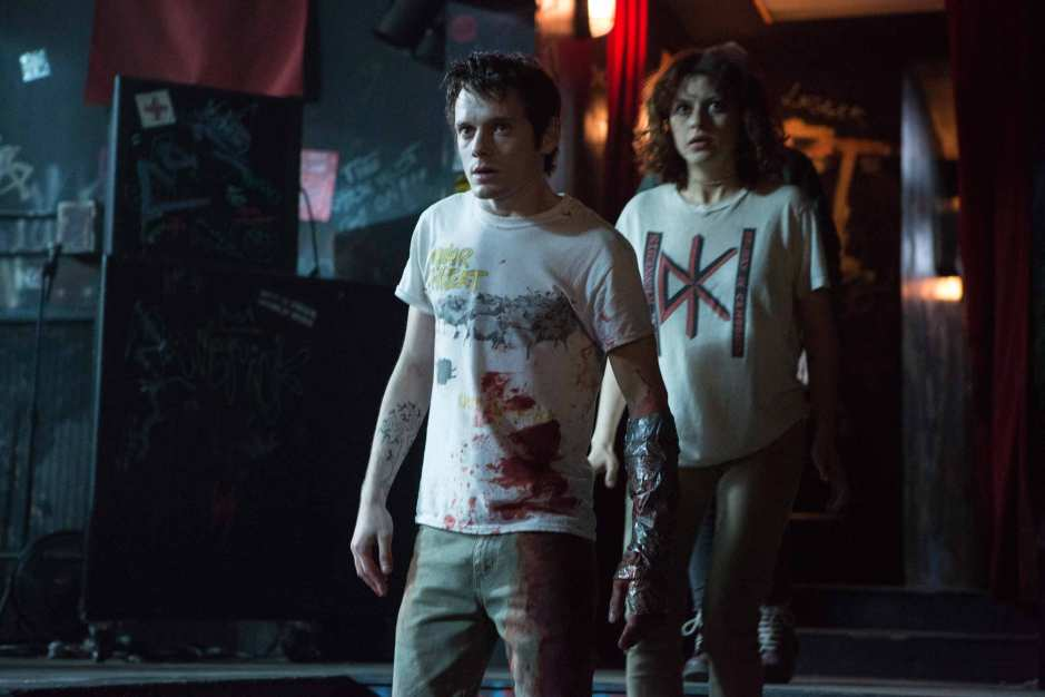 Green Room Anton Yelchin as Pat and Alia Shawkat as Sam