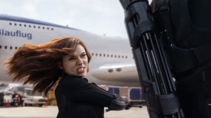 Captain America Civil War War Black Widow Fights