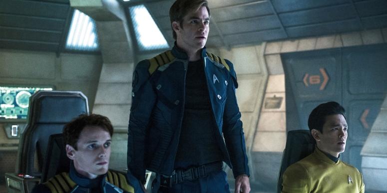 Star Trek Beyond Captain Kirk Chris Pine Sulu Jon Cho Chekov Anton Yelchin
