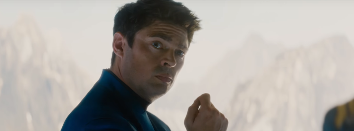 Star Trek Beyond Trailer 2 Bones Karl Urban Raised Eyebrow
