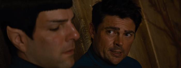 Star Trek Beyond Trailer 2 Bones Karl Urban Talks to Spock Zachary Quinto
