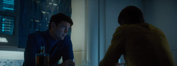 Star Trek Beyond Trailer 2 Captain Kirk Chris Pine and Bones Karl Urban Drink