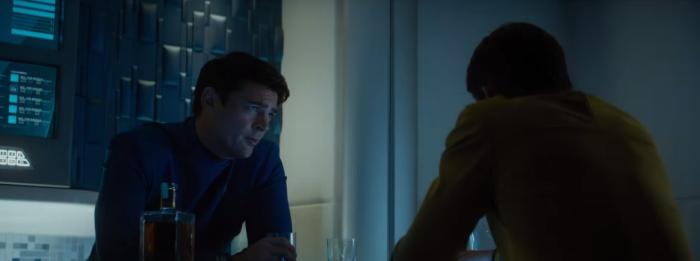 Star Trek Beyond Trailer 2 Captain Kirk Chris Pine and Bones Karl Urban Drink